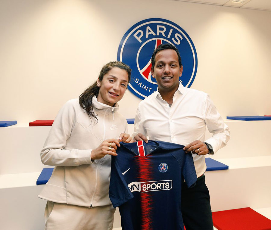 Danish international Nadia Nadim to join Paris Saint Germain.