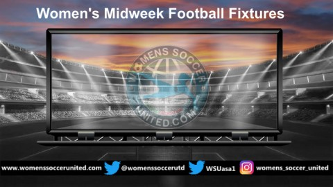 Women's Midweek Football Fixtures 4th to 7th March 2019
