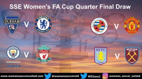 Today's SSE Women's FA Cup Quarter Final Draw Fixtures