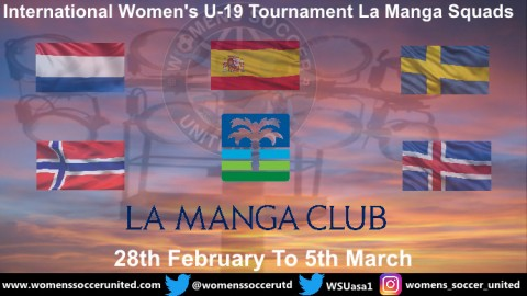 Norway, Iceland, Sweden, Spain and Netherlands name their La Manga U-19 Squads