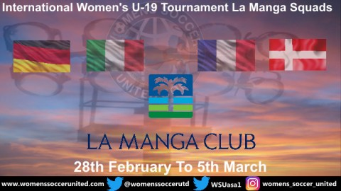 Team Squads taking part in the 2019 La Manga U-19 Tournament