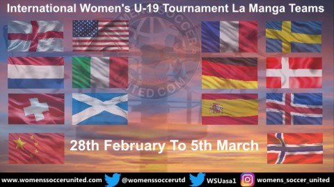 14 National Teams will play in this year's La Manga U-19 Women's Tournament