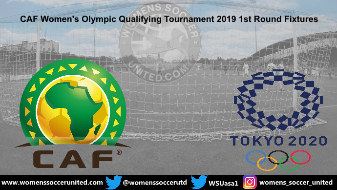 CAF Women's Olympic Qualifying Tournament 2019 1st Round Fixtures
