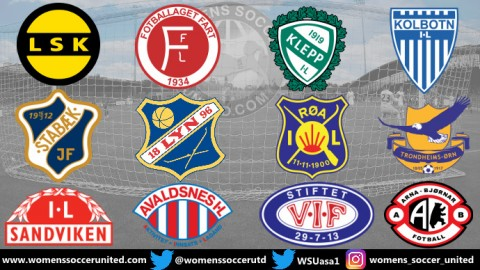 Opening Day Match Fixtures Norway Toppserien League 23rd March 2019