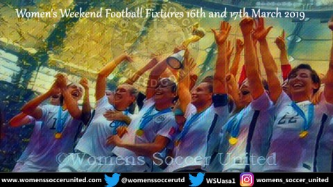 Women's Weekend Football Fixtures 16th and 17th March 2019