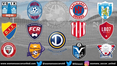 Linköping FC lead the Swedish Damallsvenskan after opening Day Match Results 2019 Season