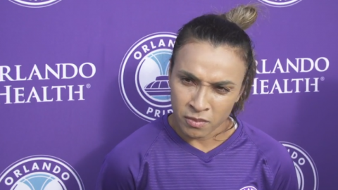 Interviews with Orlando Pride's Alex Morgan, Marta and Head Coach Marc Skinner