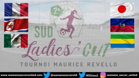 France, Haiti, DPR Korea, Japan, Mexico and Gabon to take part in the Sud Ladies Cup 2019