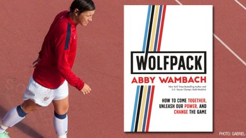 "All-time leading goalscorer, Abby Wambach inspires with new book ""Wolfpack"""