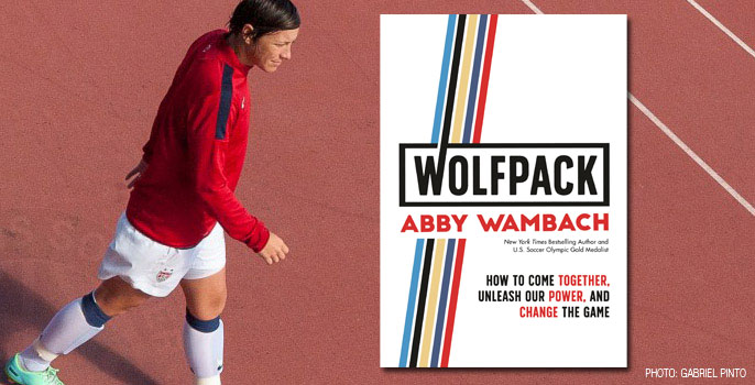 Olympic Gold Medalist Abby Wambach's new book, WOLFPACK (Celadon Books)