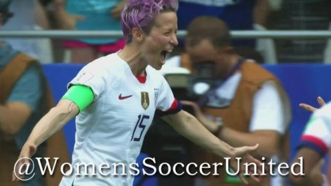 Rapinoe sends USA to quarter final
