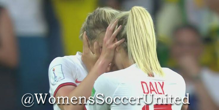 Ellen White and Rachel Daly