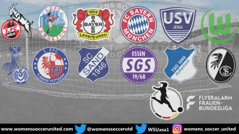TSG 1899 Hoffenheim lead FlyerAlarm Frauen Bundesliga 25th August 2019