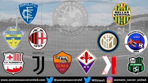 Juventus FC Lead Italy Serie A Femminile 24th November 2019