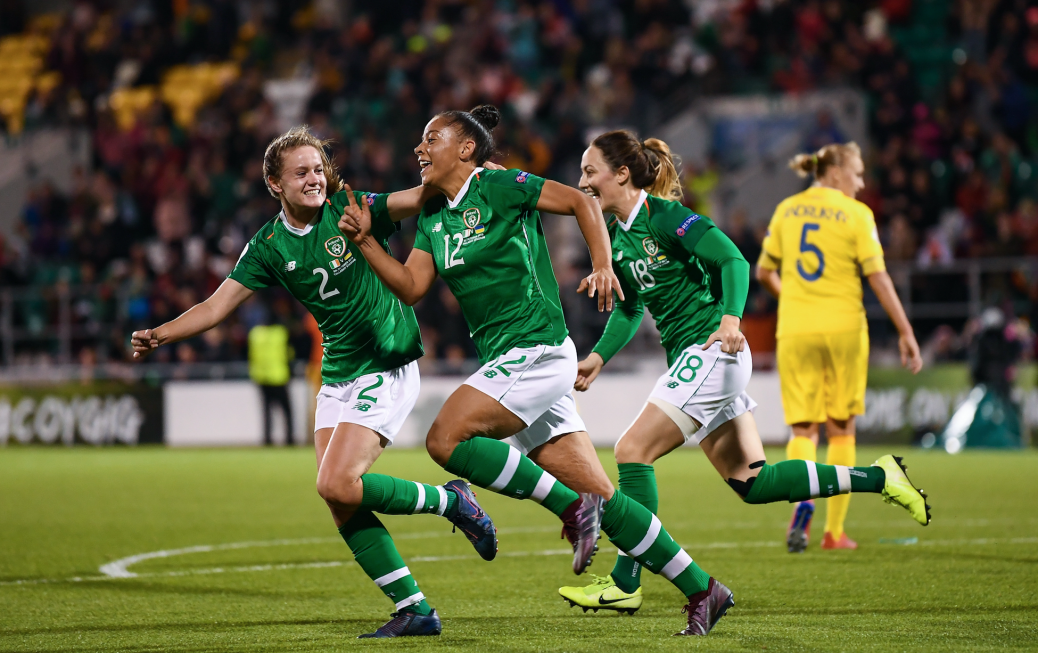 Win for Ireland WNT in front record-breaking crowd