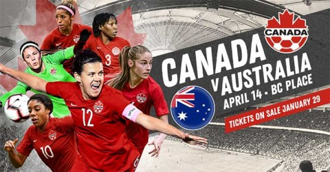 Canada to play Australia in an International Friendly match in April