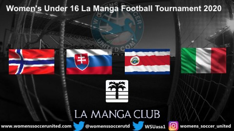 Women's U16 La Manga Football Tournament 2020 Fixtures and Results