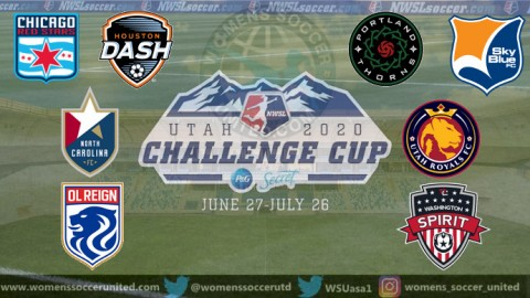 NWSL 2020 Challenge Cup Match Fixtures and Results