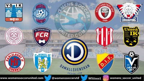 Linköping FC lead the Sweden Damallsvenskan 5th July 2020