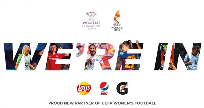 PepsiCo signs 5-year deal to sponsor UEFA Women's football